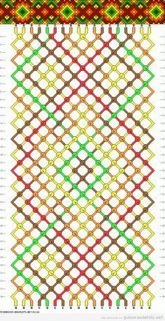 Plantilla gratis pulseras de hilo colores otoño 2