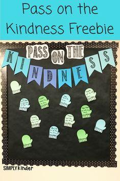 Pass on the Kindness bulletin board idea for kindergarten classroom February Bulletin Boards, Classroom Bulletin Boards, Classroom Decor, Classroom Projects, Classroom Displays, Class Projects, School Projects, School Ideas, Art Projects