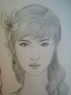 Khmer art sexy girl.  Setec institute. Drawy by phet cha. J.A គំនូខ្មែរ គូរដោយ ភេទ ចា សូមជួយគាំទ្រគំនូរខ្មែរ