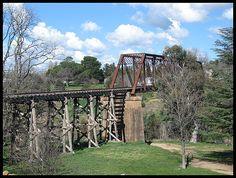Disused rail bridge over the Yass river, NSW Australia