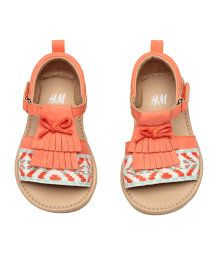Appliquéd sandals | Coral | KIDS | H&M AU