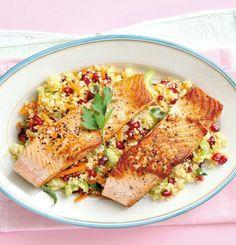 Pečený losos na kuskusovém salátu  Foto: