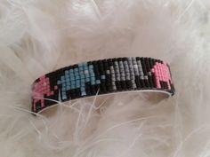 bracelet manchette ideal pour une fille, tissé avec des perles miyuki pour un joli rendu. 1,3 cm de larges. : Bracelet par yedura