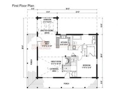 Jaffrey, NH (L11360) | Real Log Homes Floor Plan | Log cabins ...