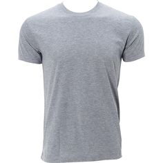 Simplex Apparel Triblend Mens Crew Tee ($20) ❤ liked on Polyvore featuring men's fashion, men's clothing, men's shirts, men's t-shirts, men, tops, shirts, grey, mens grey shirt and mens t shirts