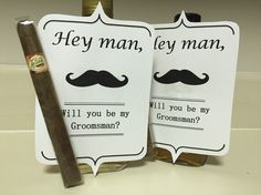 How he asked the groomsmen to be in our wedding