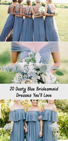 dusty blue wedding color ideas - dusty blue bridesmaid dresses  #weddings #wedding #blueweddings #weddingcolors #weddingideas #dustyblue #beautiful #dresses #bridesmaid #LavenderBridesmaidDresses #TealBridesmaidDresses #BridesmaidDressesMismatched #BridesmaidDressesMint #PeachBridesmaidDresses