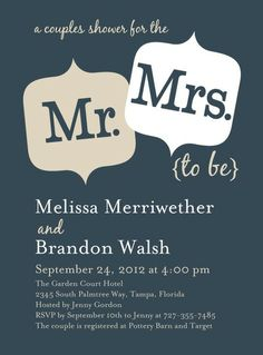 coedwedding shower invitation | Hosting a couples bridal shower, also called a Jack and Jill, is a ...