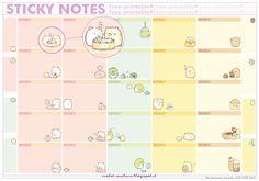 violet-archive: Free Printables: San-x sticky notes (Sumikkogurashi)
