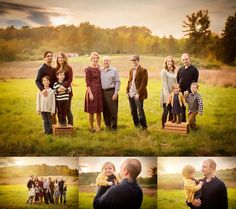 Click to See More! Northern Virginia Family Photography. Winchester VA Extended Family Photographer. Large Family Poses. Outdoor fall extended family portraits. www.kensiem.com | Northern Virginia Photographer                                                                                                                                                                                 More