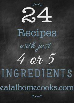 4 or 5 ingredients