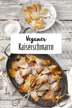 Kaiserschmarrn Vegan Breakfast Bayern Brunch Easter holidays Imperial Vegan Lactose-free pasta Children Icing sugar Easter brunch The Effective Pictures We Offer You About healthy food photos … Vegan Breakfast Recipes, Easy Dinner Recipes, Vegetarian Recipes, Easy Meals, Healthy Recipes, Vegan Sweets, Vegan Desserts, Going Vegan, Food Inspiration