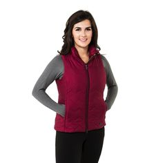 Noble Outfitters Ladies Calgary Vest - Cranberry