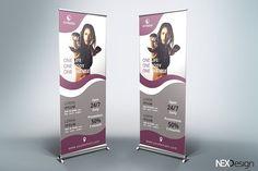 Gym Roll-Up Banner - v46 by NEXDesign on @creativemarket