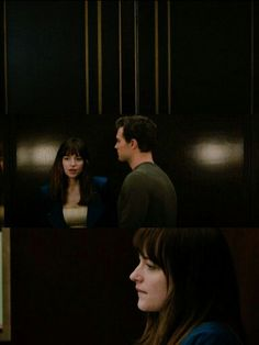 So Christian and Ana enters the elevator and I guess her nerves gets the better of her to be in such an enclosed space with him and well we all knows what happens next:)