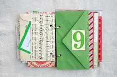 Adventskalender-Buch - selbstgemacht - mit 24 Briefumschlägen und Wünschen/ Aktivitäten für jeden Tag +++ The Creative Place: DIY:: Advent Envelope Mini Book