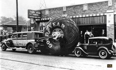 """1929 Buick Goodyear Airwheel Bus and American Austin   Goodyear not only built the """"The World's Largest Tire"""" in 1929,"""