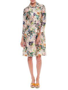 1970s Lanvin Floral Dress