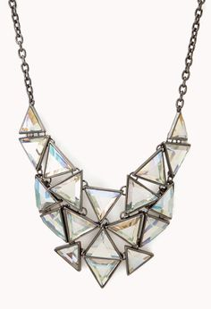 Angular Bib Necklace | FOREVER21 Make a statement #Necklace #Bib #Accessories