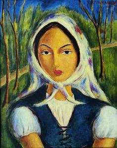 Cuban Art: --Víctor Manuel García,Period: The Vanguard--1897 - 1969--Campesina--(Peasant) ca.1949-50, oil on canvas 20 x 16 inches