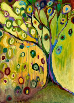"Abstract Art - ""Tree of Hope"" - Fine Art Print by Jenlo, size 8x12 and larger"
