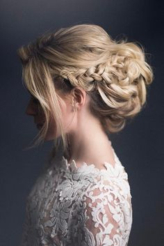 wedding updos for long hair romantic braided updo hairandmakeupbysteph