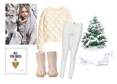 """""""Untitled #1212"""" by doinacrazy ❤ liked on Polyvore featuring H&M, French Connection, UGG Australia and MANGO"""