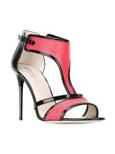 GIORGIO ARMANI T-bar colour block sandals