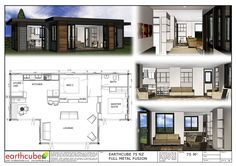 Earthcube » Plan Gallery Building A Container Home, Container House Plans, Container House Design, Shipping Container Home Designs, Shipping Containers, Sims House Plans, Casas Containers, Portable House, Prefab Homes