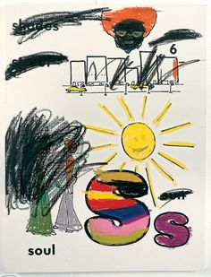 Glenn Ligon Sun (Version 2) #1, 2001 Silkscreen ink, oil stick and gesso on canvas 48 x 36 inches