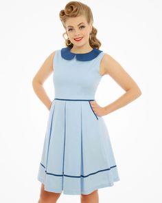 Molly Sue Pastel Blue Swing Dress   Vintage Style Fashion   Lindy Bop