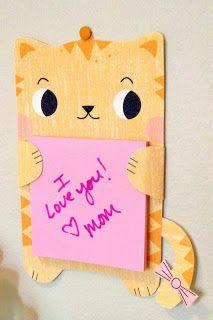 DIA DE LA MADRE/PADRE Tara Lilly Studio: Printable Kitty Notepad Holder Free Download!