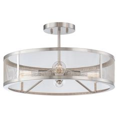 Minka Lavery Harbour Point 4 Light Semi Flush in a Brushed Nickel Finish 4134-84