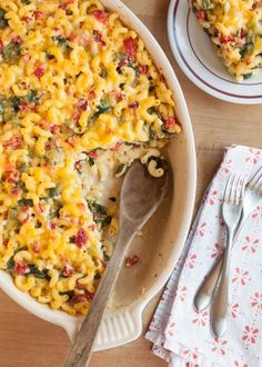 Recipe: Lighter Baked Macaroni & Cheese with Spinach & Red Peppers — Recipes from The Kitchn | The Kitchn