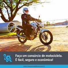 É através do consórcio que está a sua chance de ter uma motocicleta nova ou usada, da marca e modelo de sua preferência, seja para trabalhar ou passear. Veja na matéria: https://www.consorciodemotos.com.br/noticias/consorcio-de-motos-facil-seguro-e-economico?idcampanha=288&utm_source=Pinterest&utm_medium=Perfil&utm_campaign=redessociais