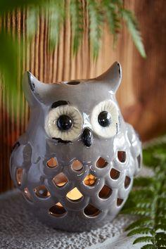 #Photophore #hibou en céramique. botanic® - owl Ceramic Birds, Ceramic Animals, Ceramic Pottery, Owl Crafts, Clay Crafts, Ceramics Projects, Clay Projects, Clay Owl, Pottery Handbuilding