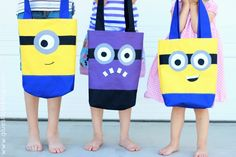 Sewing: Minion Tote Bags