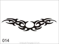 Airbrush tattoo stencil V014 Tribal Tattoo Designs, Tribal Tattoos, Tatoos, Airbrush Tattoo, Cool Art, Nice Art, Wood Burning Crafts, Tattoo Stencils, Woodburning