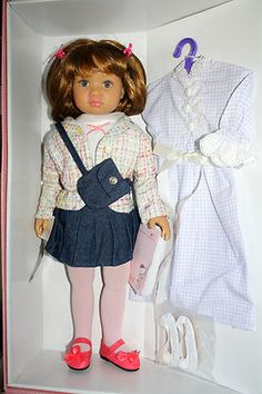 SONJA HARTMANN KIDZ N CATS ANNE 11 JOINTS NEW GOTZ OUTFIT & NIGHTGOWN & SLIPPERS