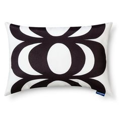 Pin for Later: The Lookbook For Target's Marimekko Home Collection Is Lust-Inducing  Kaivo & Okariino print indoor/outdoor lumbar pillow in black ($25)