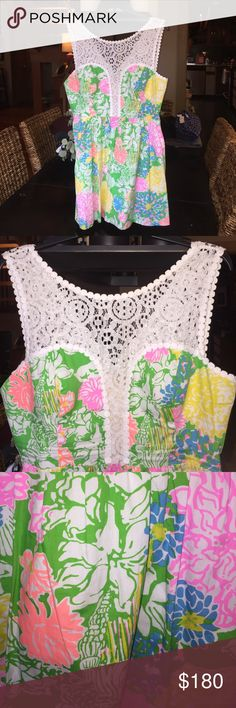 Lilly Pulitzer Raegan Style-Hibiscus Stroll Print Very good condition Lilly Pulitzer Dresses Mini