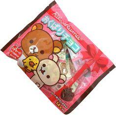 Rilakkuma Okubari Choco ~ Chocolate for Everyone $6.99 http://thingsfromjapan.net/rilakkuma-okubari-choco-chocolate-everyone/ #rilakkuma chocolate #san x products #Japanese snack