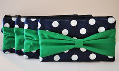 Bridesmaid Gift Set of 6 Nautical Bow Clutches