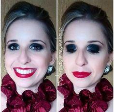 Batom Chaos, da linha Round Lipstick, na maquiagem feita pela beauty artist @sabrinasimoesmakeup