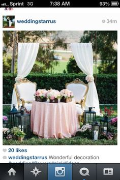 I love this for a cake table! It's so dainty!!