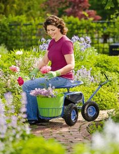 Gardening is easier when you can sit, swivel and roll! Our Gardener's Supply Tractor Scoot lets you work from a seated position virtually anywhere in your yard or garden. Now, thanks to your input, we've made this customer favorite even more comfortable and easier to use. See more at gardeners.com