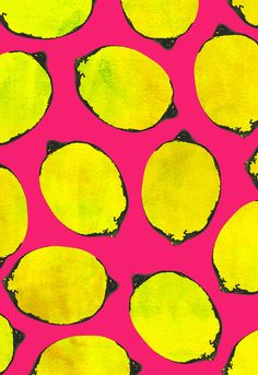 Lemons. Would do series with limes, oranges, cherries, olives, etc