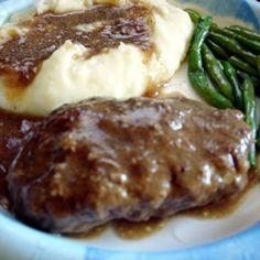 Salisbury Steak Recipe--I'm really craving this, and chef boyardee raviolis--maybe this is healthier?