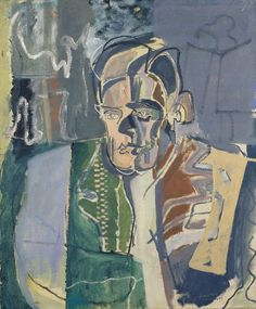 Patrick Heron's 1949 portrait of writer T. Eliot is shown alongside rarely seen studies: from life-drawings to experiments in form and colour, revealing the process of abstraction for which the artist is best known. Patrick Heron, National Portrait Gallery, Art Uk, Land Art, Your Paintings, Painting & Drawing, Oil On Canvas, Modern Art, Contemporary Art