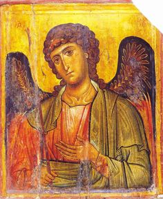Archangel Gabriel Date: early 13th century Material: Egg tempera on wood Dimensions: 55,6 × 45,5 cm. Sinai, St. Catherine's Monastery